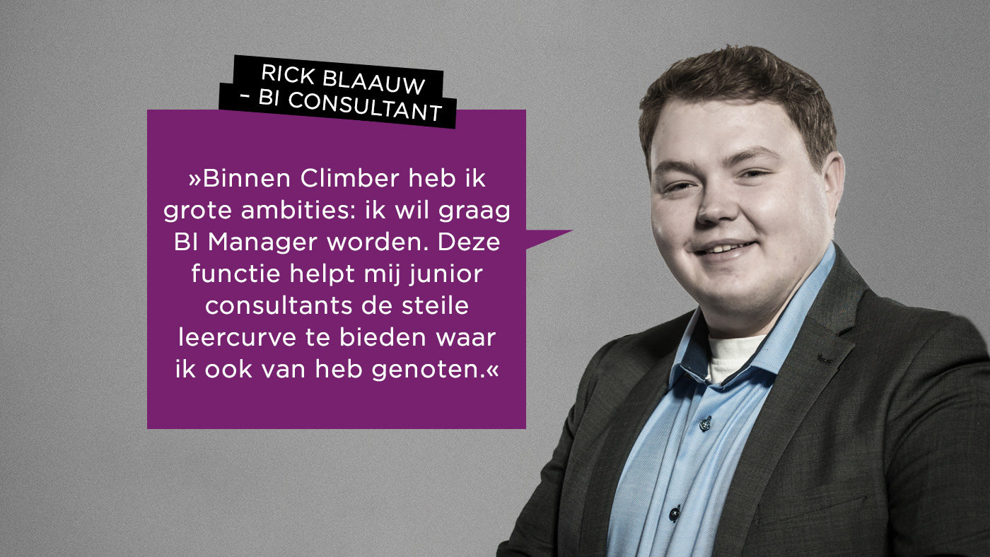 Climber Rick Blaauw BI Consultant