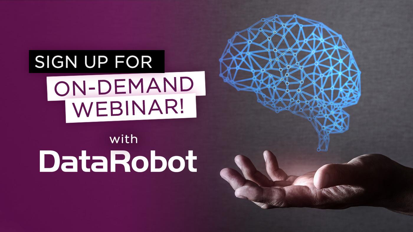 On demand webinar DataRobot