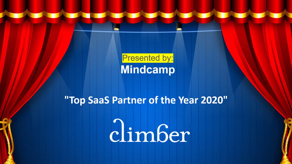 Climber Top SaaS Partner of the Year 2020